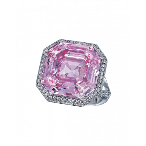 Fancy Intense Purple Pink Diamond Ring