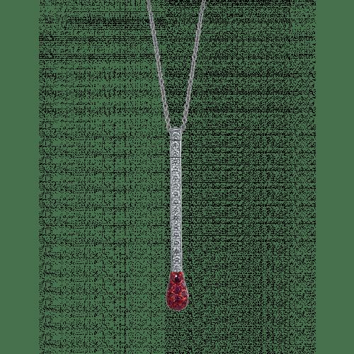 Ruby and Diamond Match Necklace