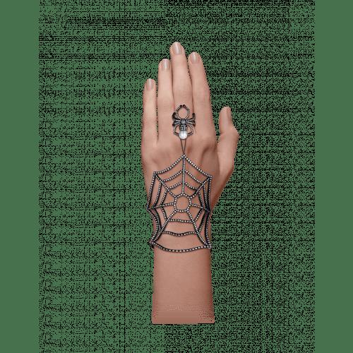 Black Plated Ring Bracelet