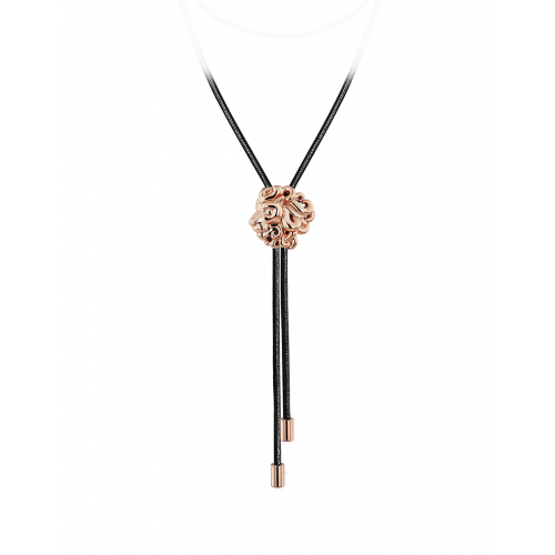 Zodiac Leo String Necklace Rose Gold