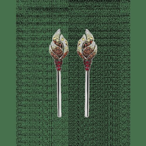 White Gold Multicolor Match Earrings