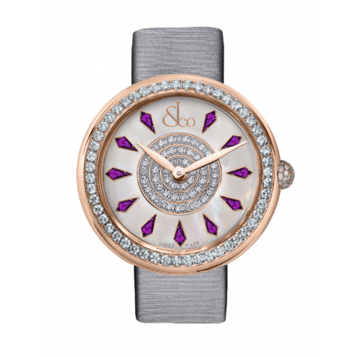 Brilliant One Row Rose Gold Amethyst Sapphires 38mm