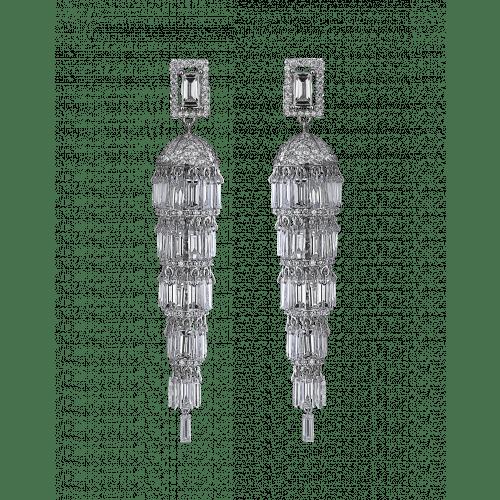 Lustre Small Diamond Chandelier Earrings