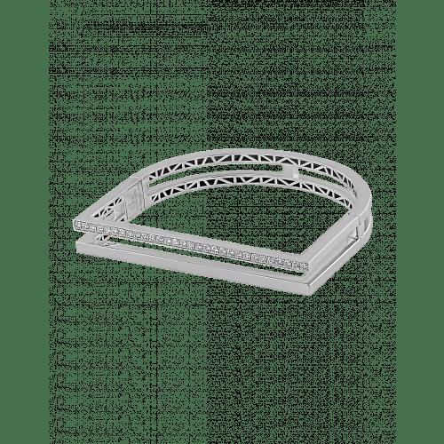 Nima's Classic Bracelet White Gold Half Pave