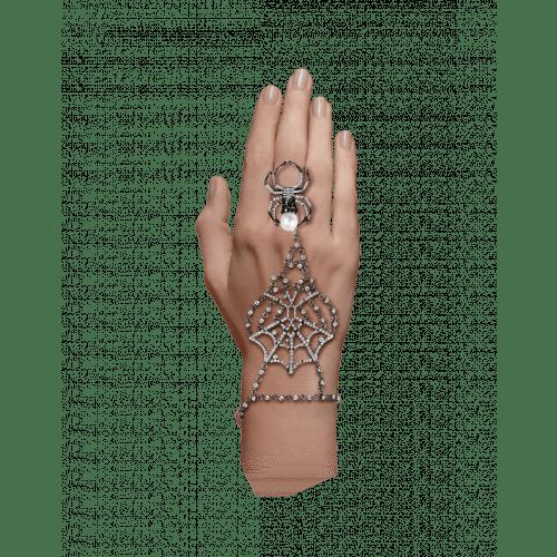 Jacob's Web Black Plated Ring Bracelet