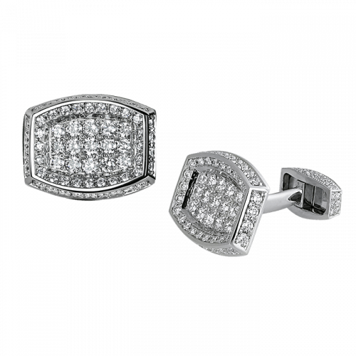 Diamond Cufflinks Platinum