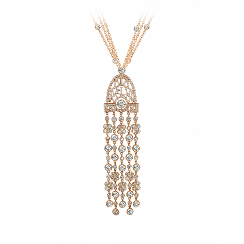 Jezebel Rose Gold White Diamond Pendant