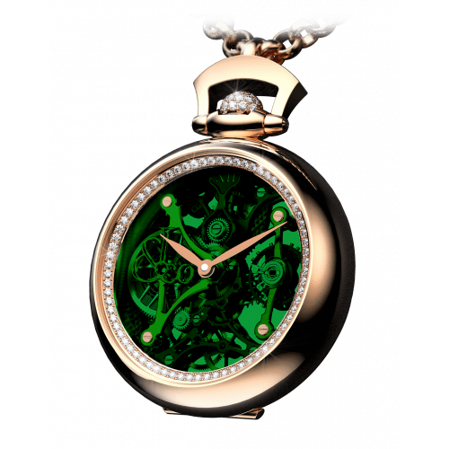 Brilliant Pocket Watch Pendant Green