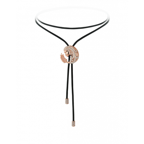 Zodiac Virgo String Necklace Rose Gold Diamond