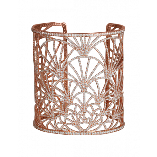 Abanico Large Cuff Rose Gold Bracelet