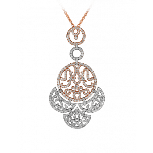 Lace Two Tone Diamond Lace Pendant