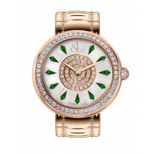 Brilliant One Row Rose Gold Couture Tsavorites 38mm
