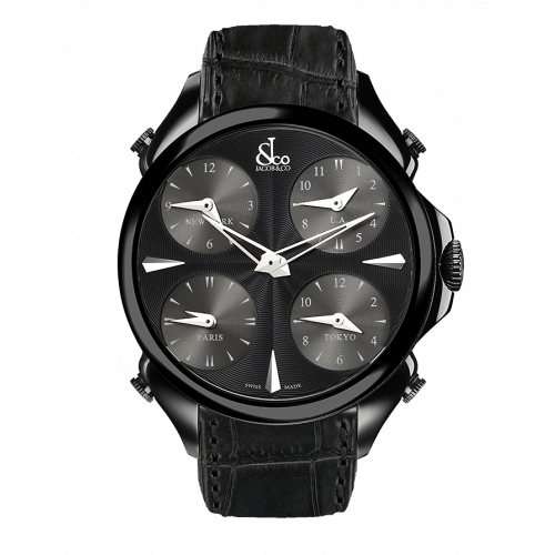 Palatial Five Time Zone Black PVD Coating