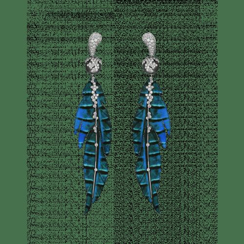 St. Barths Blue Leaf Earrings