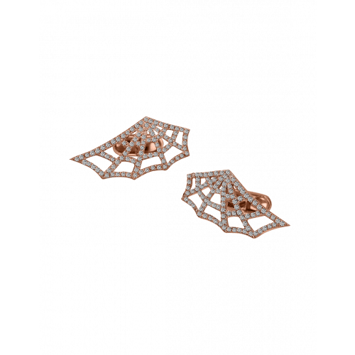 Jacob's Web Rose Gold Pave Diamond Cufflinks