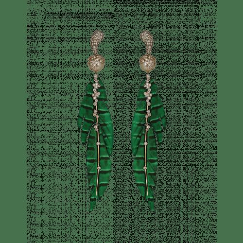 St. Barths Green Leaf Earrings