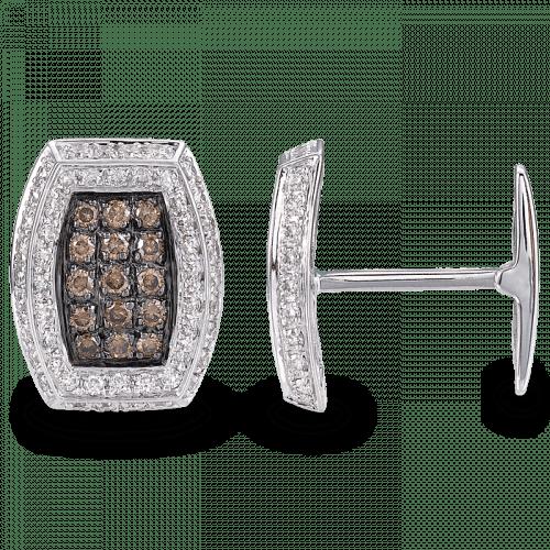 Cognac Diamond Cufflinks