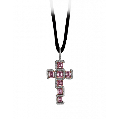 Fancy Intense Pink Diamond Cross