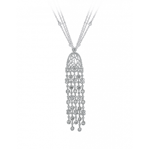 Jezebel White Gold White Diamond Pendant