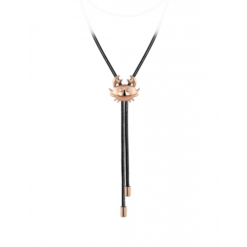Zodiac Cancer String Necklace Rose Gold