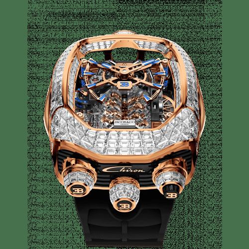 Bugatti Chiron Tourbillon Baguette White Diamonds