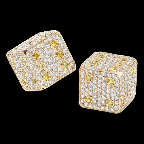 Diamond Dice Yellow Gold