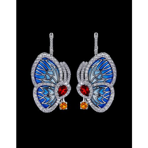 Rhodolite Papillon Small Earrings