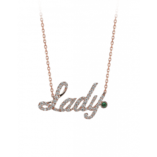 Rose Gold Lady Necklace