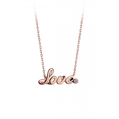 Smaller Rose Gold Plain Love Necklace