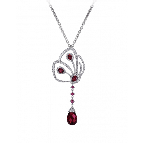 Papillon Necklace with Rhodite and Diamonds