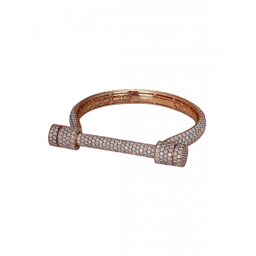 Estribo Rose Gold Full Pave Bangle