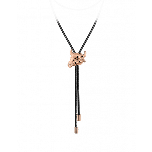 Zodiac Taurus String Necklace Rose Gold