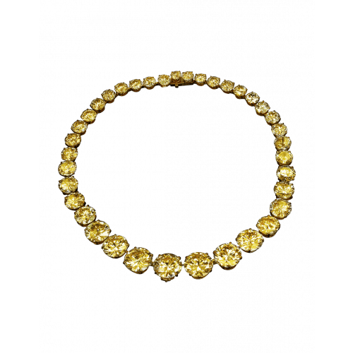 Yellow Diamond Riviera Necklace