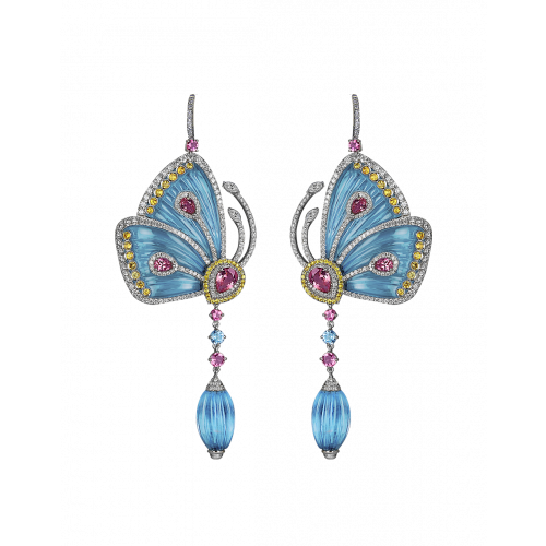 Blue Cathedral Papillon Earrings Small