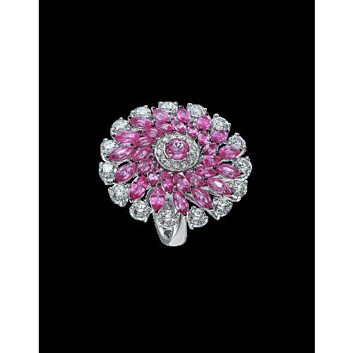 Round Cut Pink Sapphire Ring