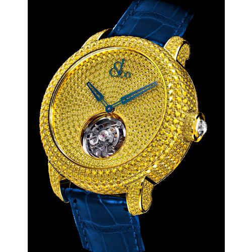 Caviar Tourbillon Pave Yellow Diamonds