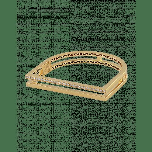 Nima's Classic Bracelet Yellow Gold Half Pave