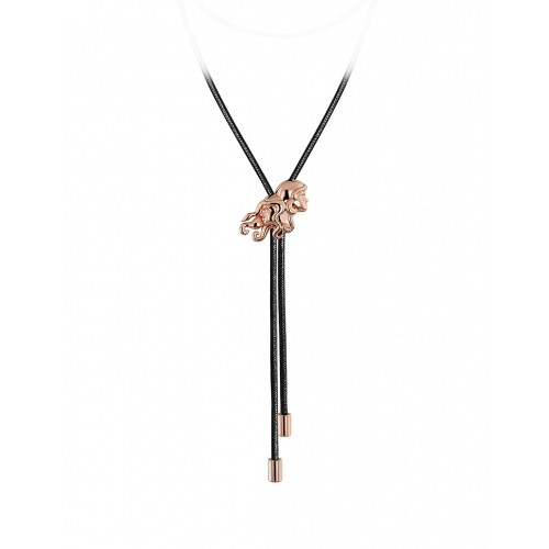 Zodiac Gemini String Necklace Rose Gold