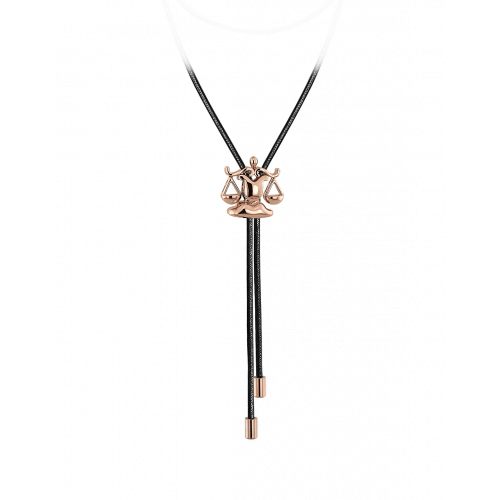 Zodiac Libra String Necklace Rose Gold