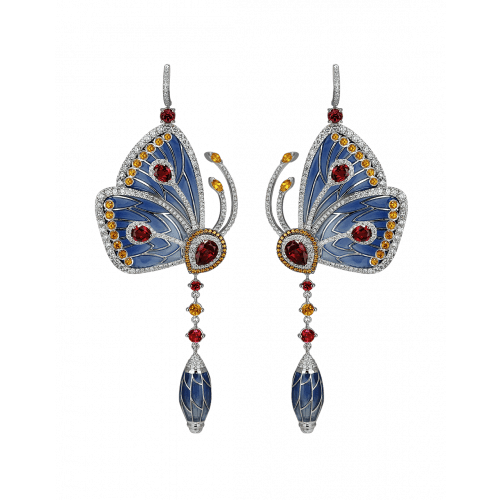 Blue Topaz Papillon Earrings