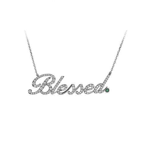 White Gold Blessed Necklace