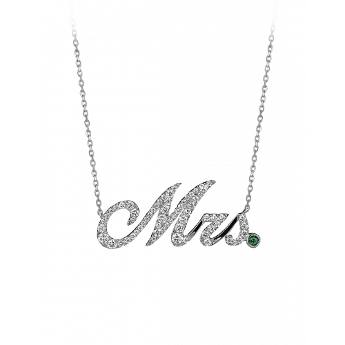 White Gold Mrs Necklace