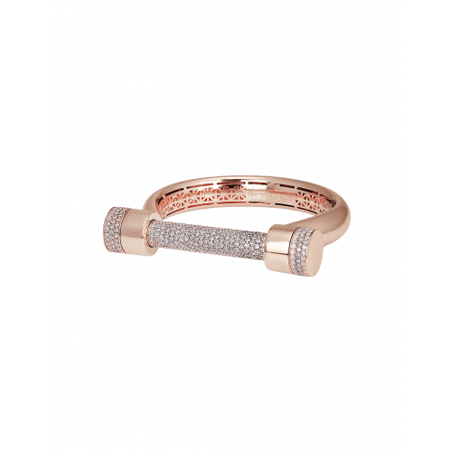 Estribo Collection 8.77ct Half Pave Bangle
