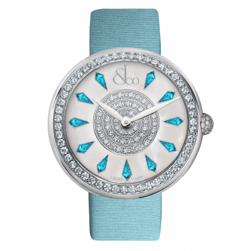 Brilliant One Row Icy Blue Sapphires 44mm
