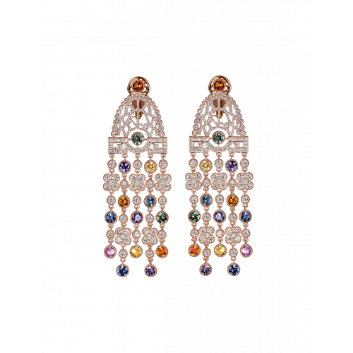 Jezebel Multicolor Earrings Short