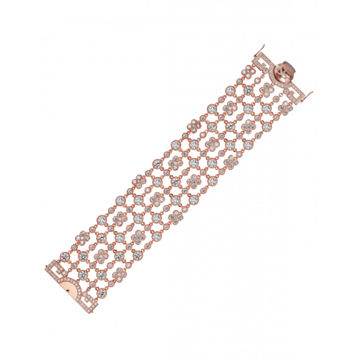 Jezebel Rose Gold White Diamond Bracelet