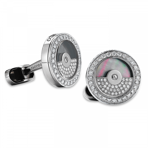 Diamond Spinning Rotor Cufflinks