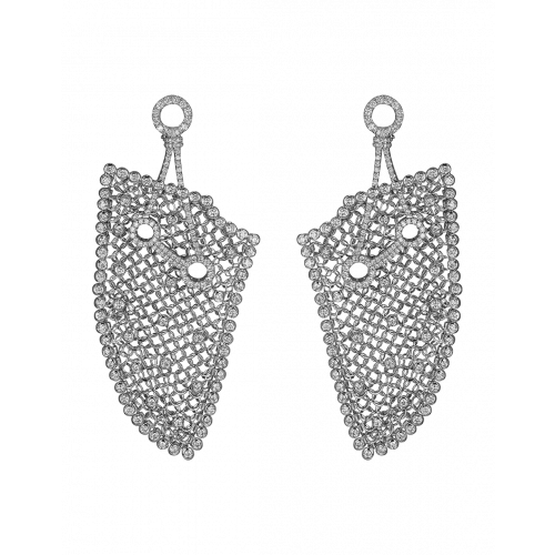 Rare Touch White Gold Earrings