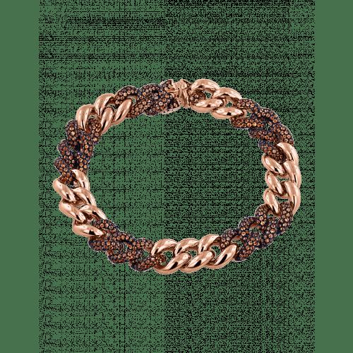 Cuban Link Bracelet Orange Sapphires