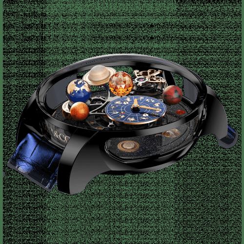 Astronomia Solar Jewelry Planets Zodiac Black DLC Titanium